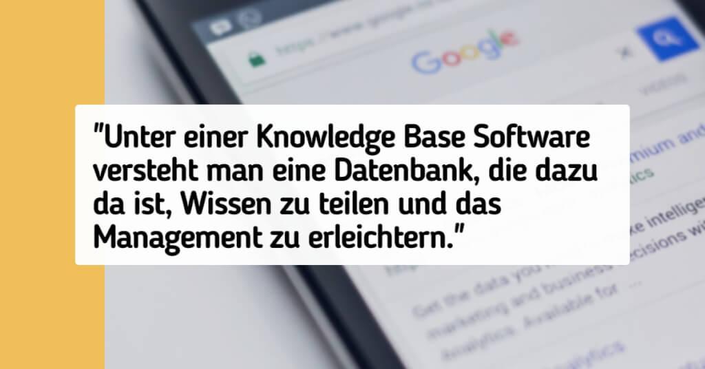 Knowledge Base Software Zitat
