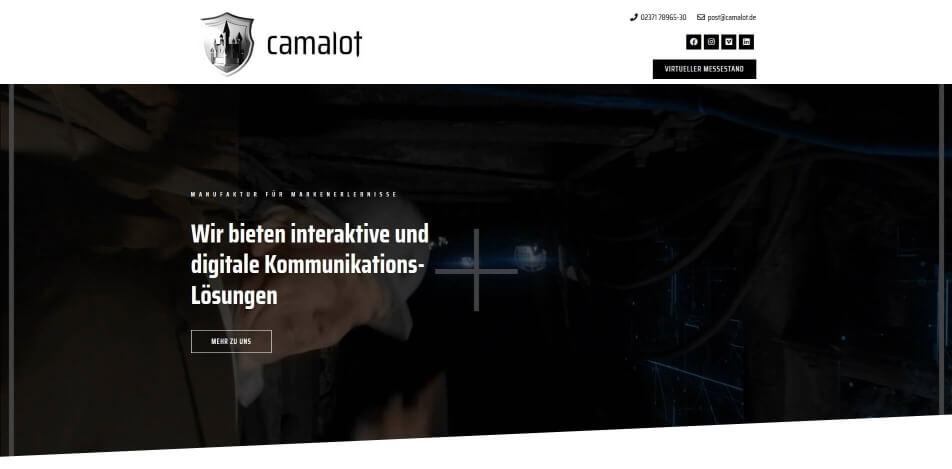 virtueller messestand erstellen software beispiele camalot