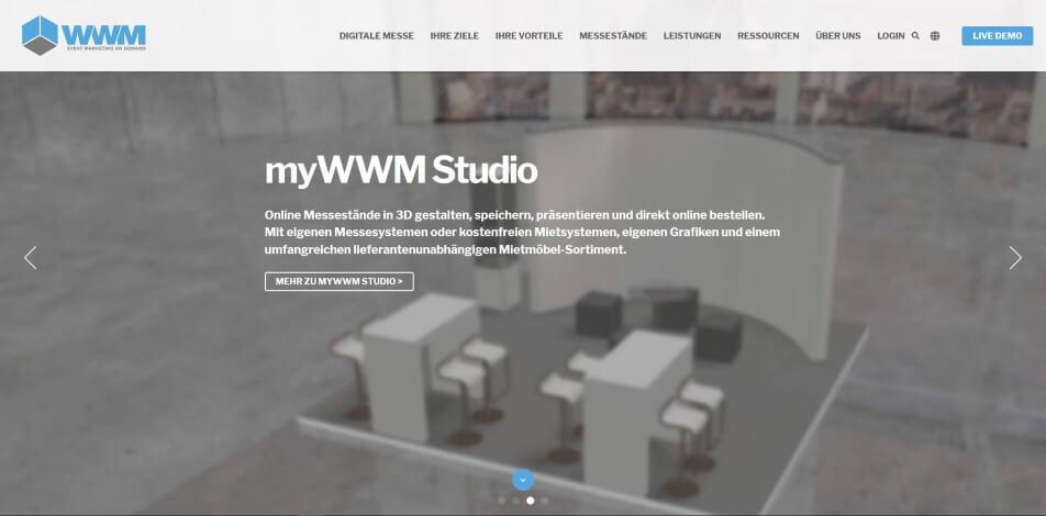 virtueller messestand erstellen software beispiele wwm