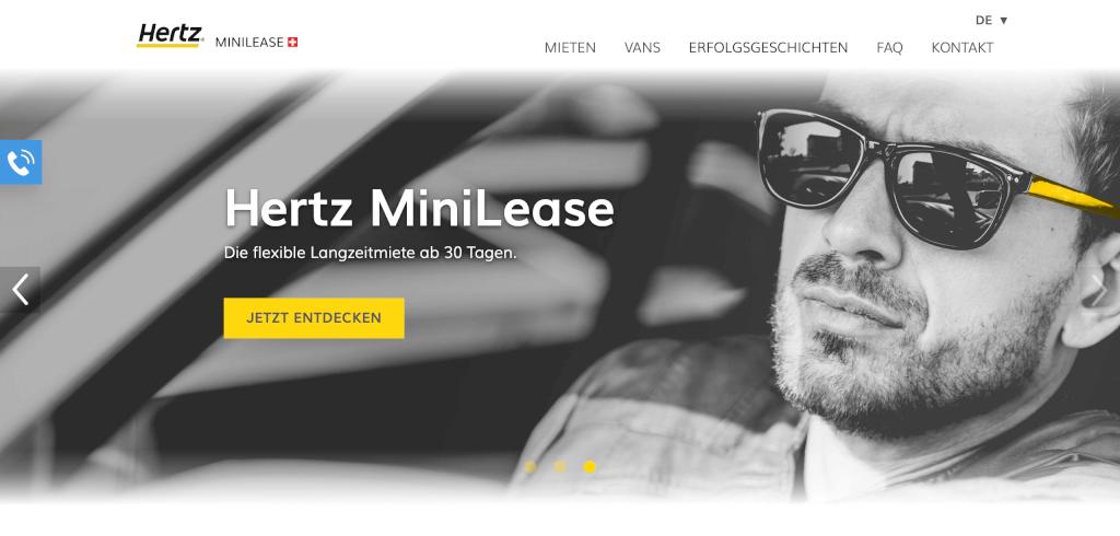 Auto Abo Schweiz Hertz MiniLease Flexible Automiete schon ab 30 Tagen