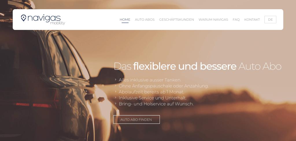 Auto Abo Schweiz navigas mobility