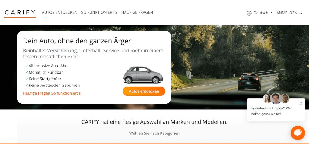CARIFY Auto Abo Schweiz