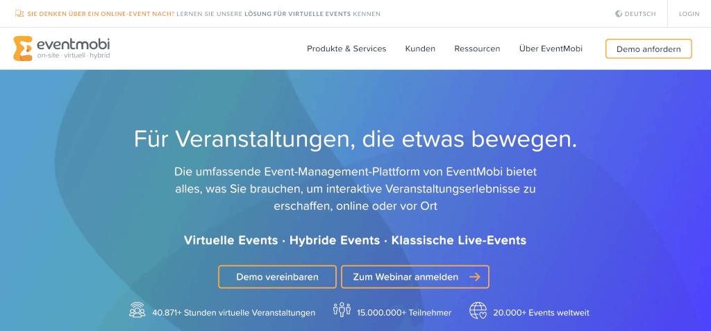 Virtuelles Event EventMobi