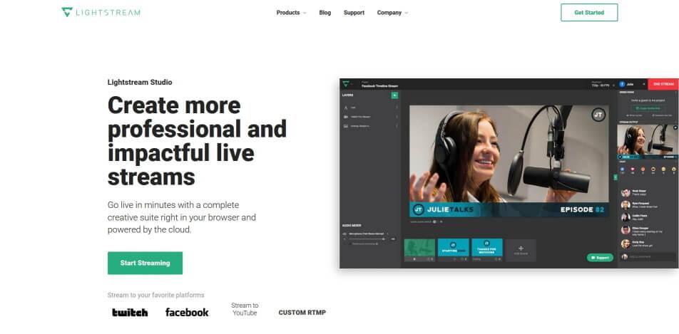 beste live streaming software kostenlos lightstream