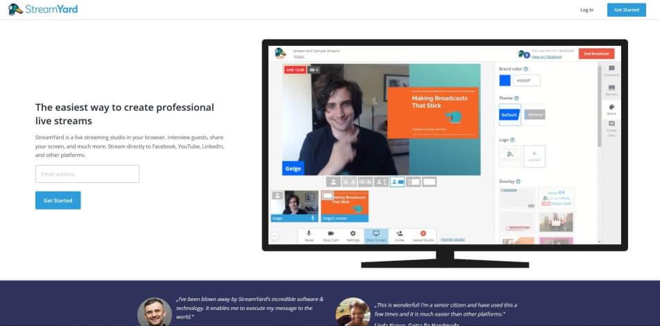 beste live streaming software kostenlos streamyard