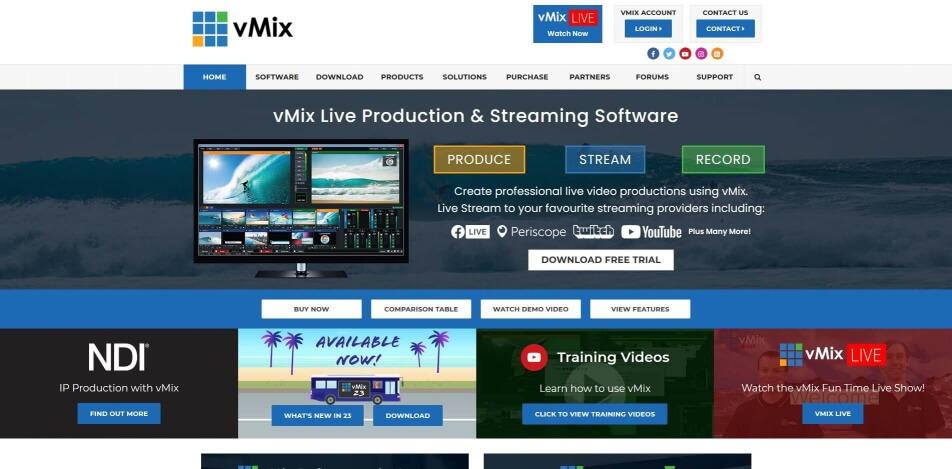 beste live streaming software kostenlos vmix