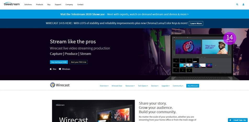 beste live streaming software kostenlos wirecast