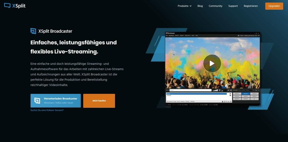 beste live streaming software kostenlos xsplit broadcaster