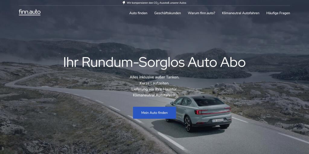 Auto Abo von finn auto Rundum Sorglos abonnieren