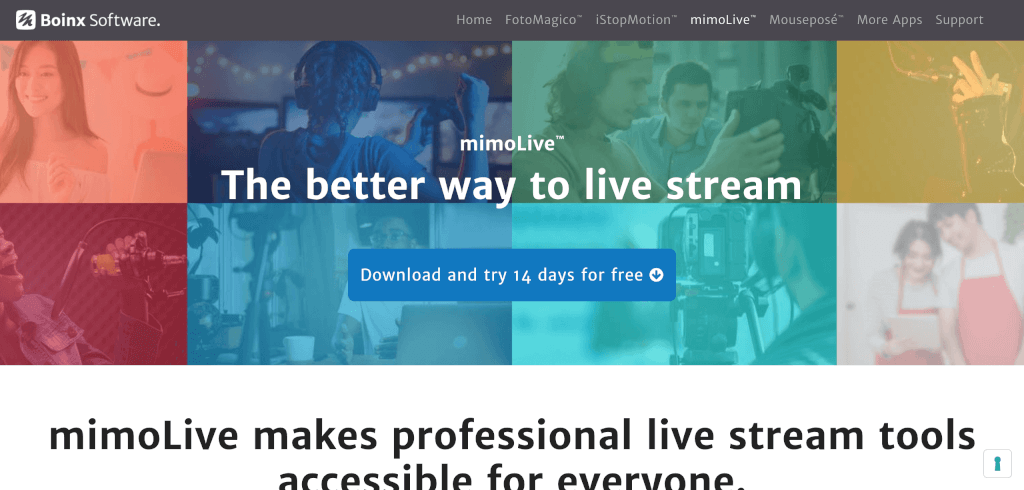 Live Streaming Software mimoLive Boinx Software 1