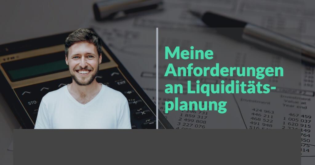 Meine Anforderungen an Commitly Liquiditaetsplanung Tool Erfahrungen