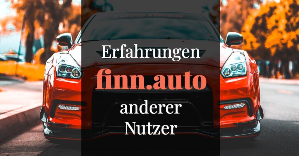 finn.auto Erfahrungen Andere Nutzer