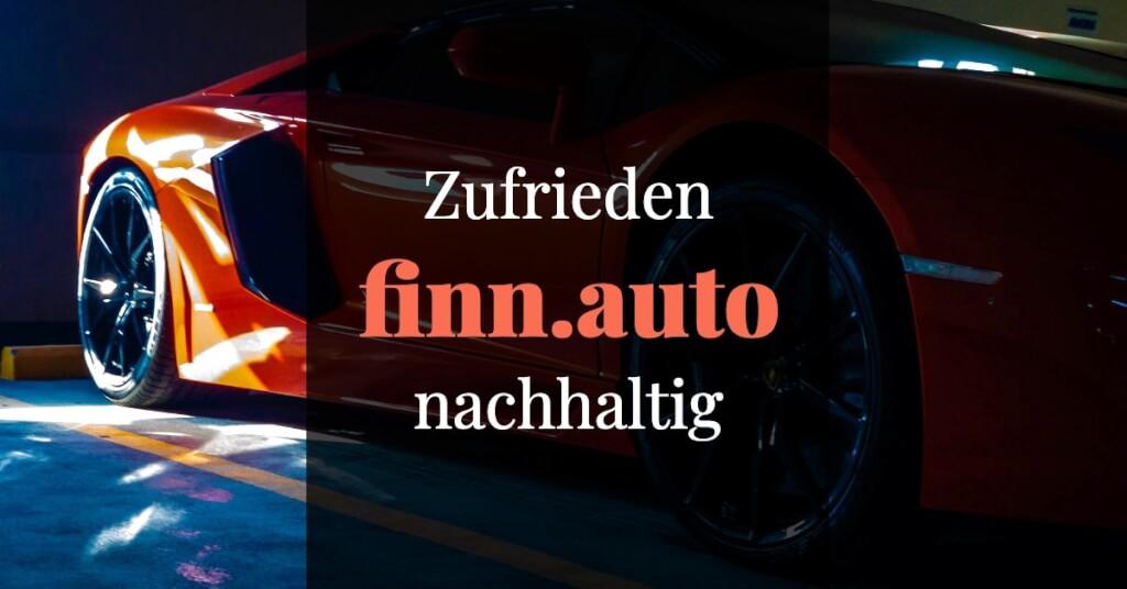 finn.auto Erfahrungen Fazit