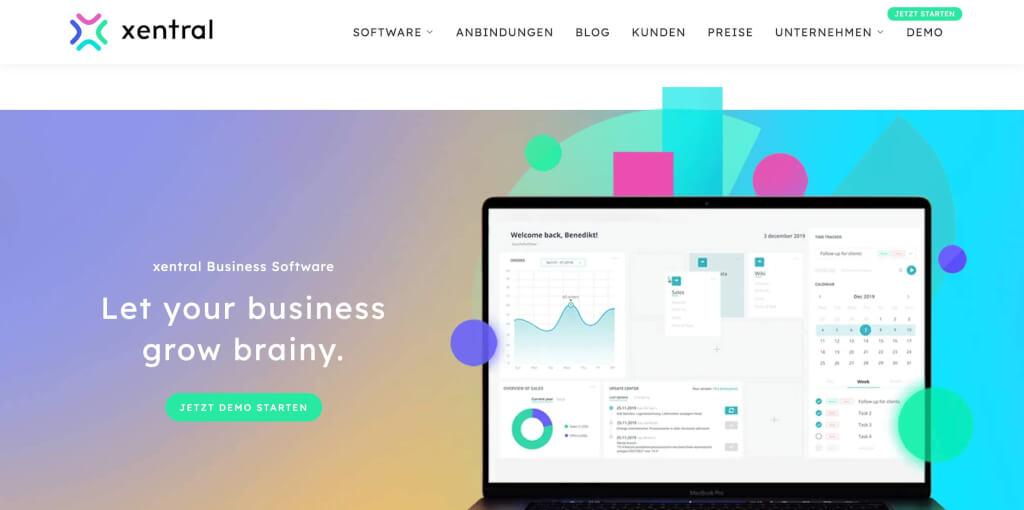 xentral ERP Software Startseite 1