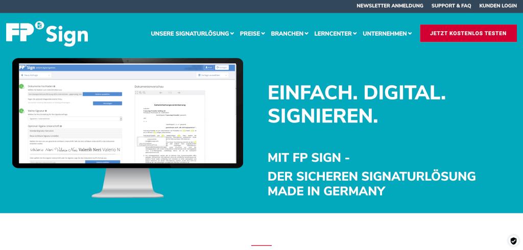 Digitale Signatur FP Sign