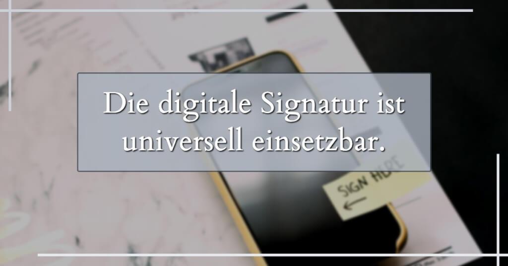 Digitale Signatur einsetzbar