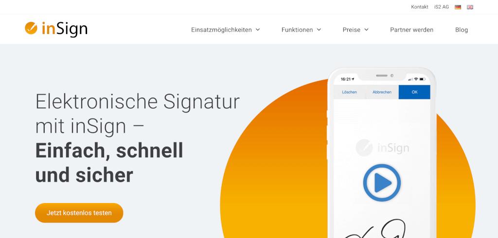 Digitale Signatur inSign