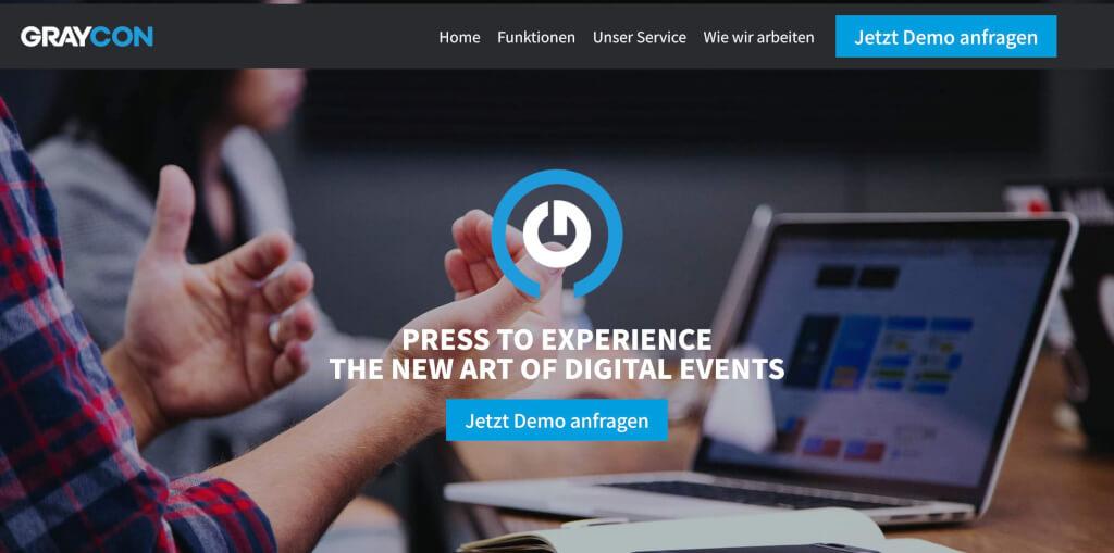 GRAYCON All in One Plattform digitale Events und Messen 1