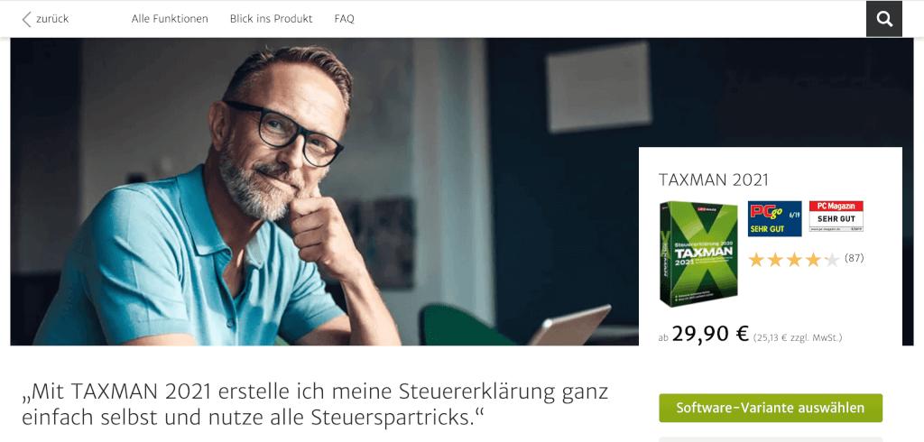 Steuererklaerung Software TAXMAN