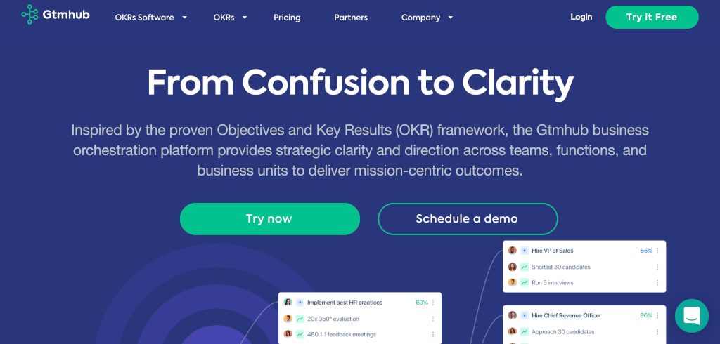 OKR Software Gtmhub