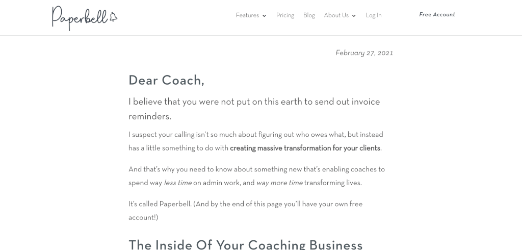 Paperbell Coaching Software