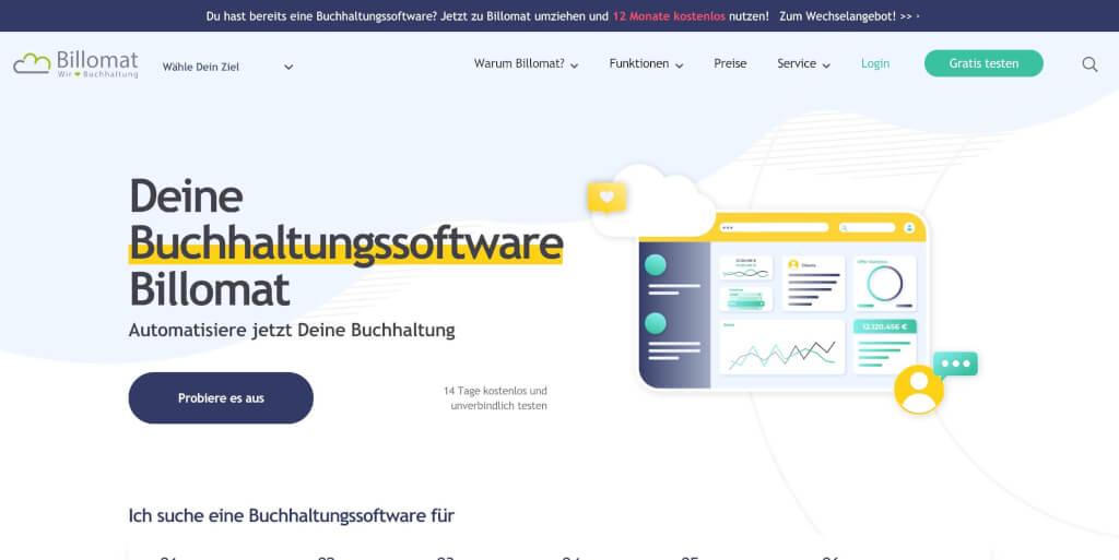 Billomat Online Buchhaltungssoftware Rechnungsprogramm 1