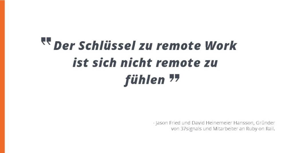 Zitat Remote Work Virtual Workplace