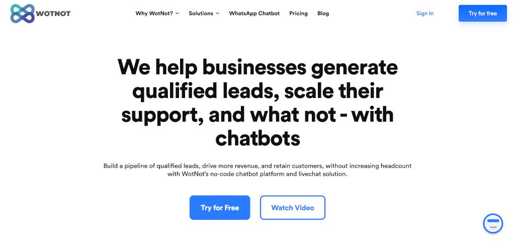 Chatbot erstellen WotNot 1