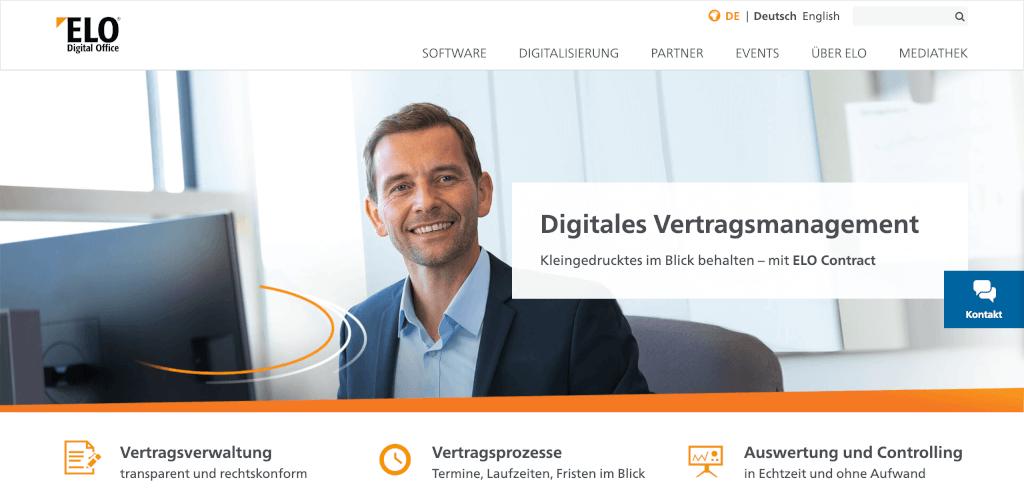 Digitales Vertragsmanagement ELO