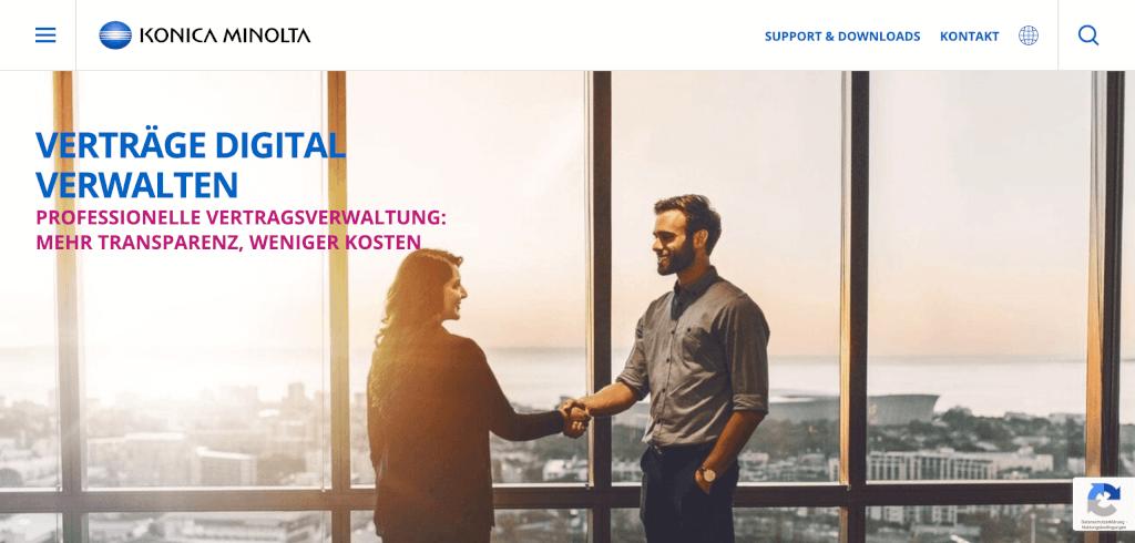Digitales Vertragsmanagement KONICA MINOLTA