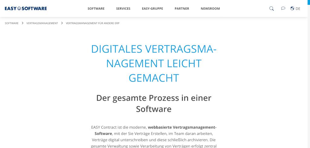 Digitales Vertragsmanagement Software fuer mehr Effizienz