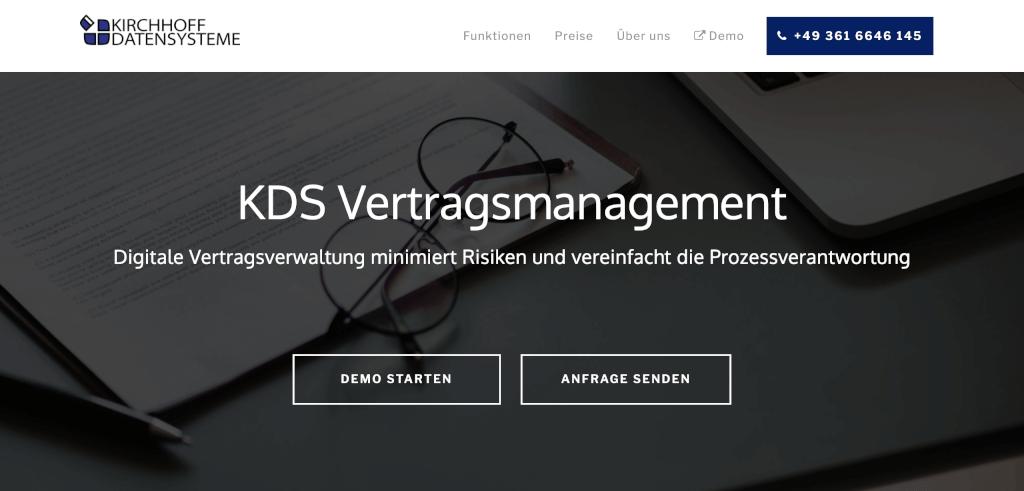 Digitales Vertragsmanagement KDS Vertragsmanagement