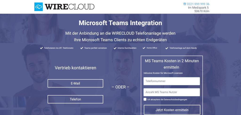 Telefonieren mit Microsoft Teams WIRECLOUD 1