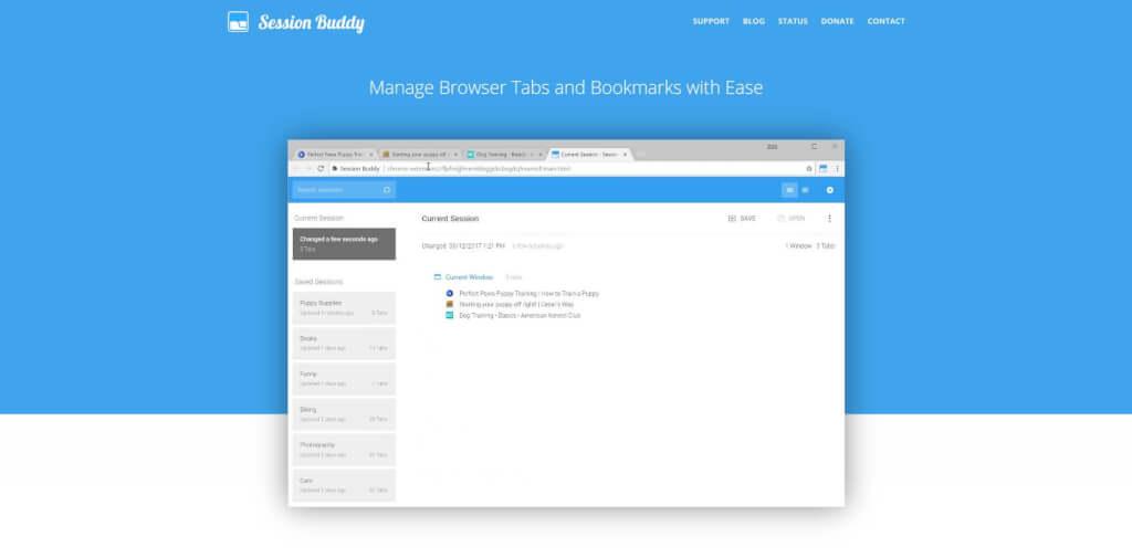chrome tab manager firefox tab manager chrome tab management firefox tab management chrome Session Buddy