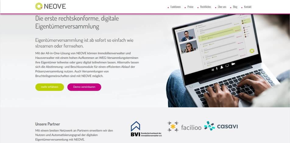 digitale eigentuemerversammlung erlaubt digitale eigentuemerversammlung software virtuelle eigentuemerversammlung neove