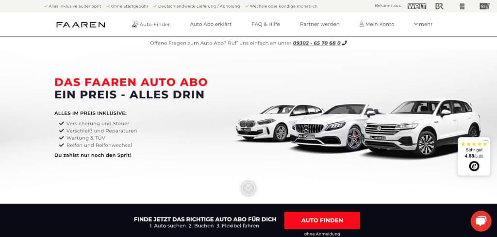 FAAREN Startseite Auto Abo Artikel Digital Affin