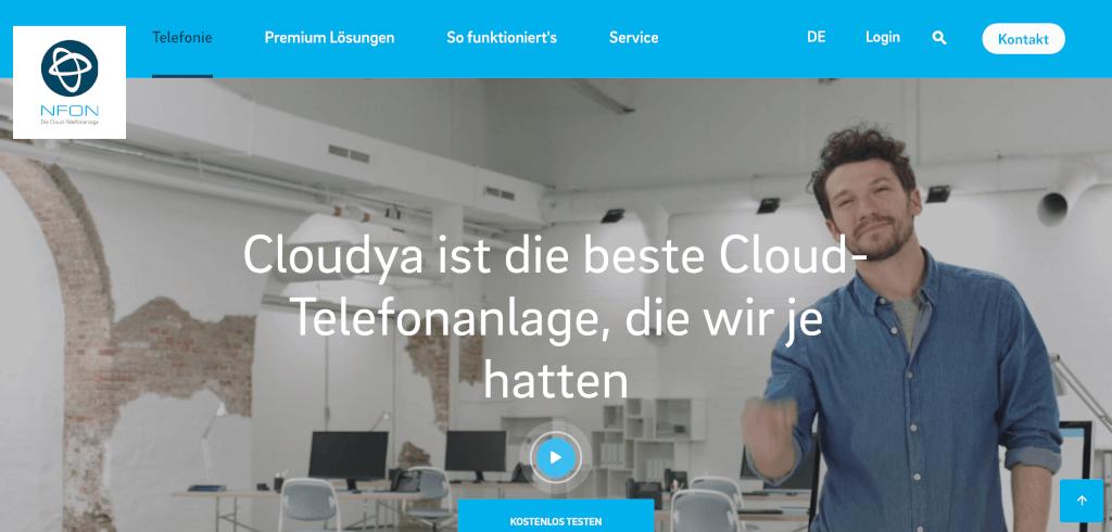 VoIP Telefonie Cloudya NFON
