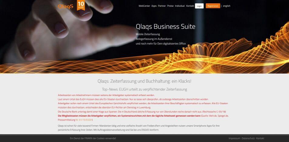 arbeitszeit digital erfassen digitale arbeitszeiterfassung zeiterfassung app digitale stempeluhr Qlaqs