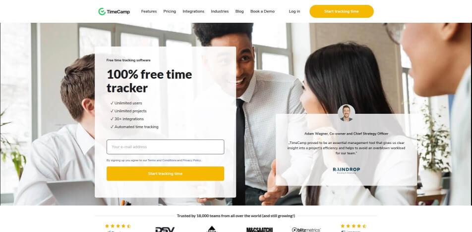 arbeitszeit digital erfassen digitale arbeitszeiterfassung zeiterfassung app digitale stempeluhr TimeCamp