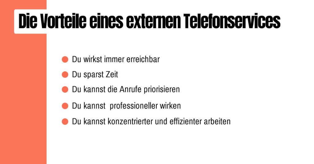 Die Vorteile eines externen Telefonservices