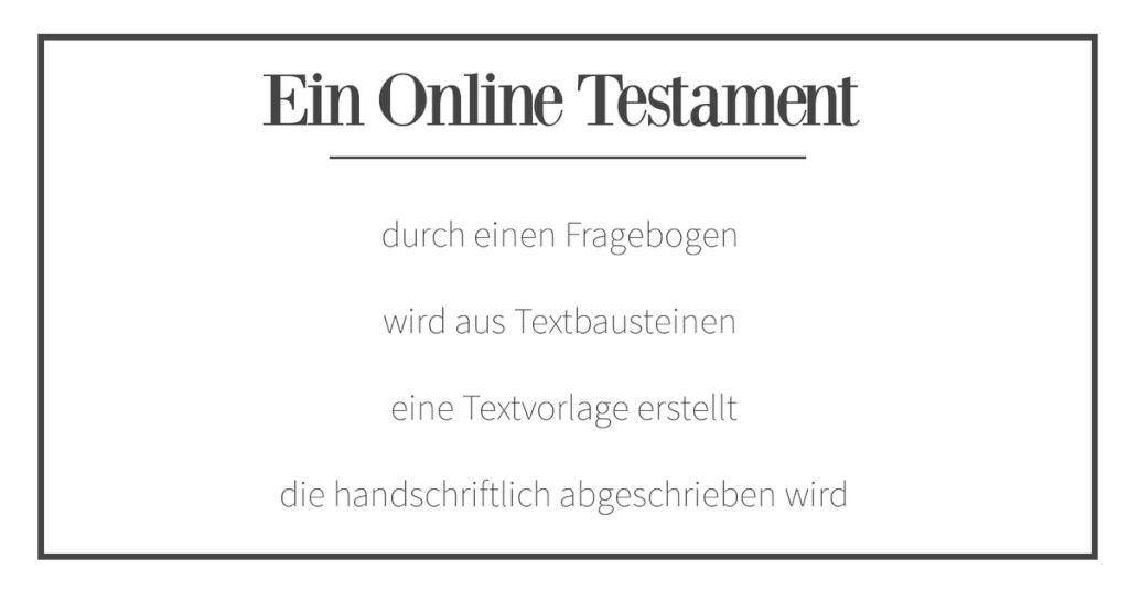 Ein Online Testament 1