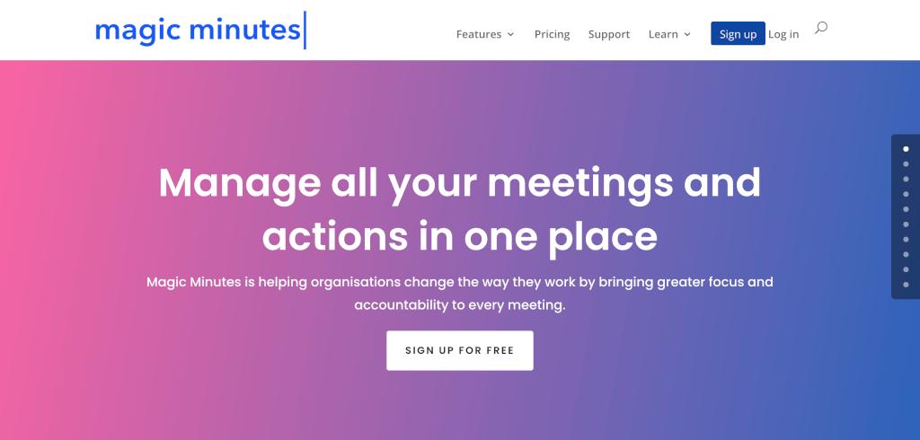 Meeting Management Software Magic Minutes