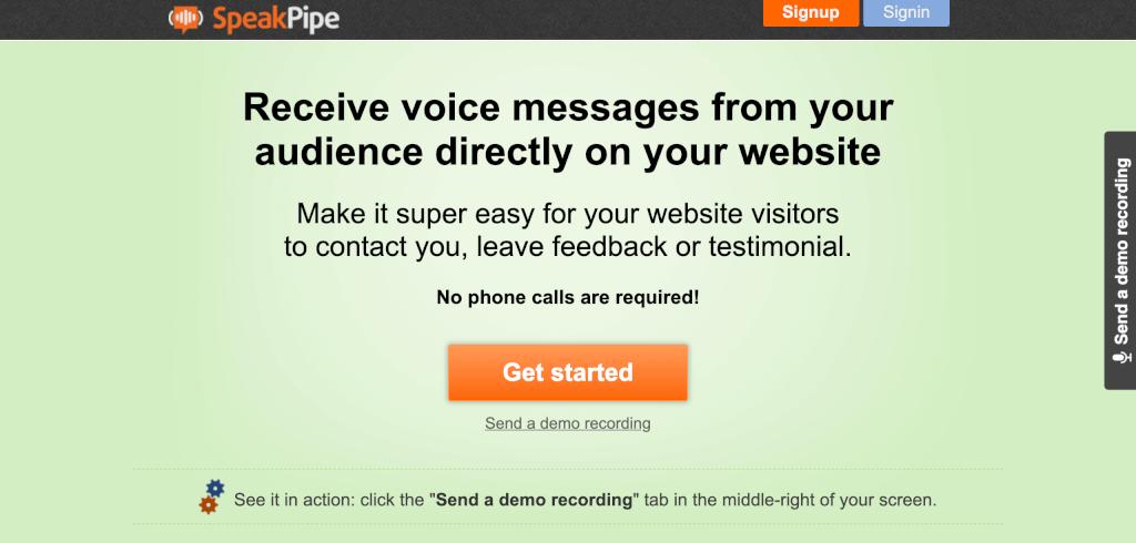 Sprachnachricht E Mail Marketing SpeakPipe 1