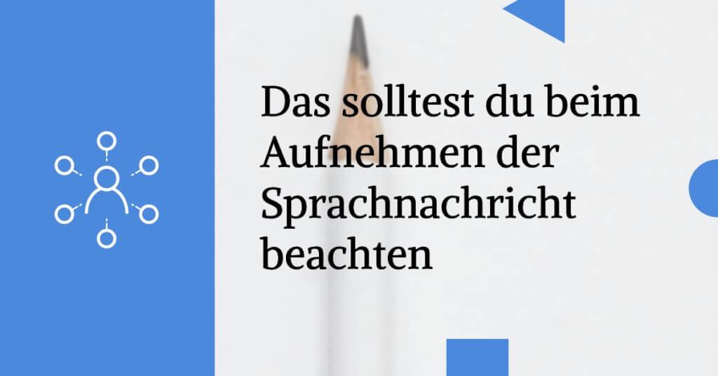 Sprachnachrichten E Mail Marketing Aufnahme