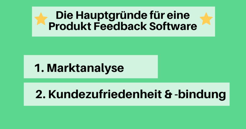 Die Hauptgruende fuer eine Produkt Feedback Software