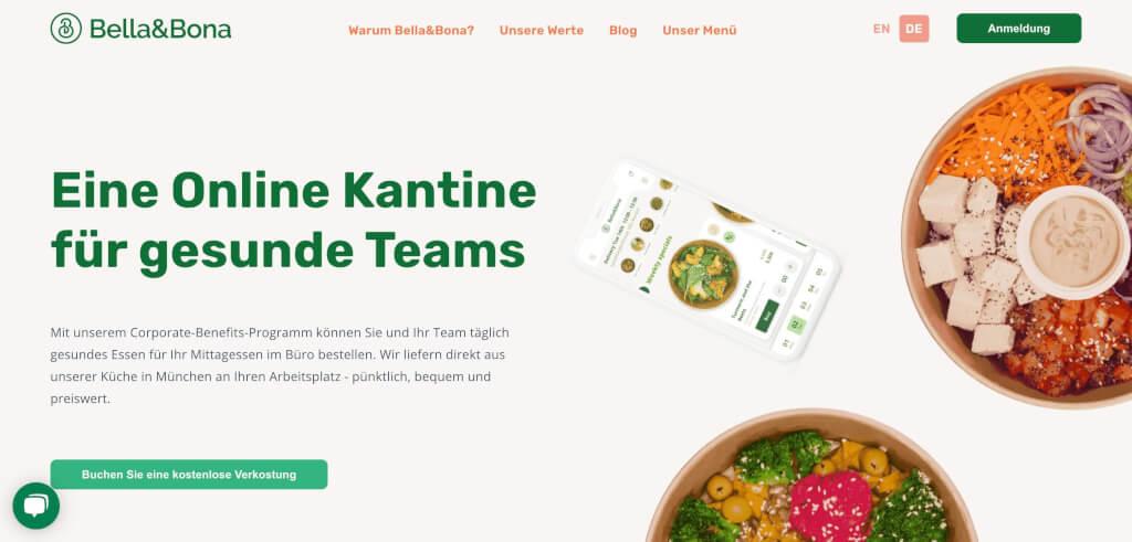 Bella Bona Online Kantine gesunde Teams Digital Affin 1