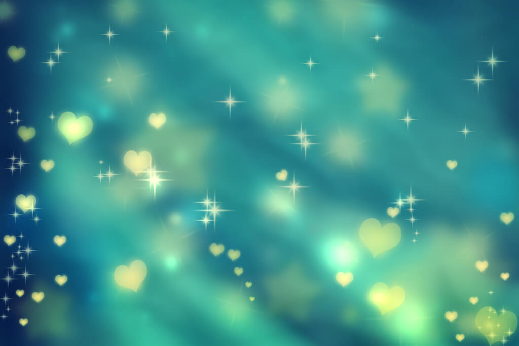 schrei nach Liebe graphicstock golden small hearts on teal background with stars HFzWCI6yMdb