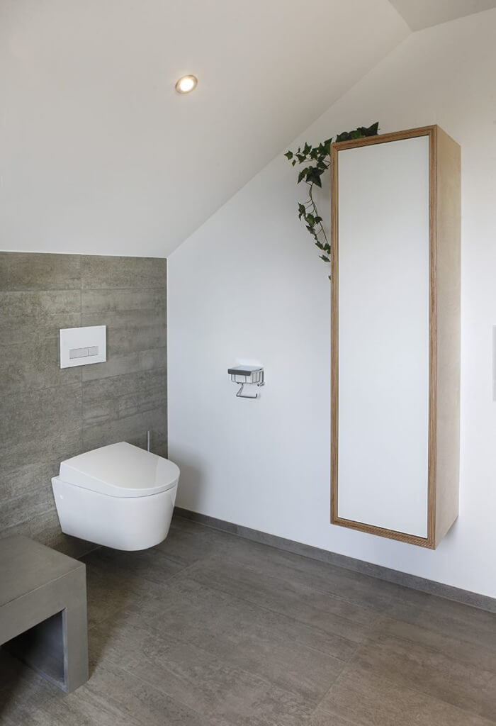 Das Bad im Dachgeschoss