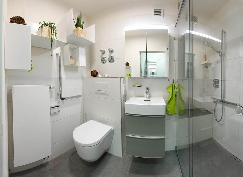 Kleines Bad mit viel Komfort
