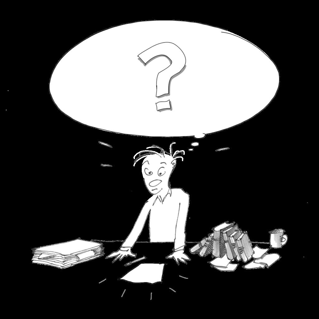 Chaos im Kopf bei der Vortrags-Vorbereitung